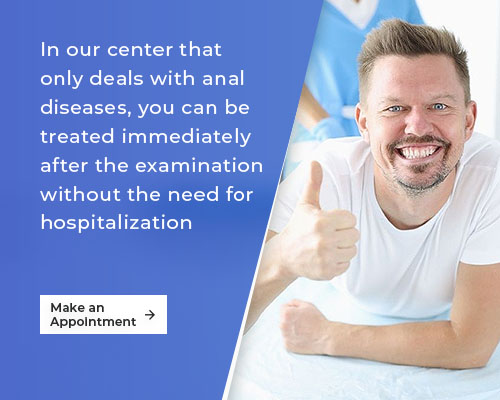In our center that only deals with anal diseases slider